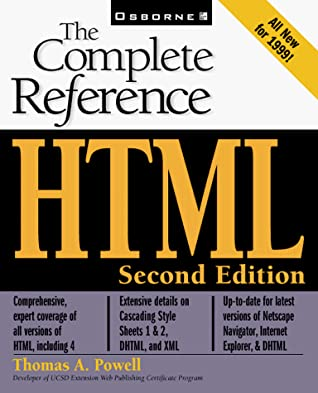 Cover: HTML: The Complete Reference by Thomas A. Powell