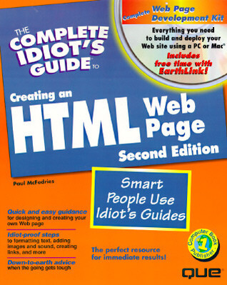 Cover: The Complete Idiot's Guide to Creating an HTML 4 Web Page (3rd edition) by Paul Mcfedries