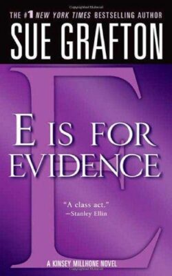 Cover: E is for Evidence by Sue Grafton